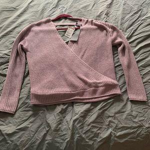 Blush color winter sweater